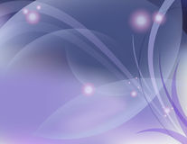 Abstract dreamy design. Abstract background with blending spheres and lights with florals Stock Images