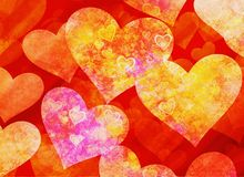 Abstract dreamy hearts background Royalty Free Stock Photo
