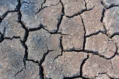 Abstract dried and cracked ground texture background. Suitable for surface background Royalty Free Stock Photos