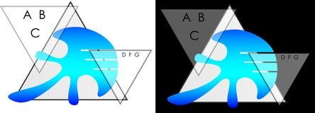 Abstract driehoeken en kwallenkwallen bedrijfsembleem Royalty-vrije Stock Afbeeldingen