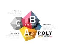 Abstract driehoeks laag poly infographic malplaatje Royalty-vrije Stock Foto
