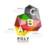 Abstract driehoeks laag poly infographic malplaatje Stock Afbeeldingen