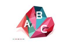 Abstract driehoeks laag poly infographic malplaatje Royalty-vrije Stock Afbeeldingen