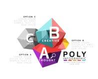 Abstract driehoeks laag poly infographic malplaatje Royalty-vrije Stock Fotografie