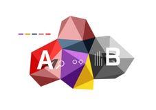 Abstract driehoeks laag poly infographic malplaatje Stock Fotografie