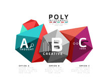 Abstract driehoeks laag poly infographic malplaatje Stock Foto