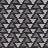 Abstract driehoekspatroon - naadloze achtergrond - leer textur royalty-vrije illustratie