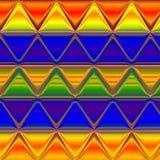 Abstract driehoekspatroon in spectrumkleuren, effect regenboog Royalty-vrije Stock Fotografie