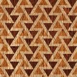 Abstract driehoekspatroon - verschillende kleuren - houten achtergrond stock illustratie