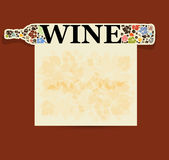 Abstract drink background alcohol wine bottle Royalty Free Stock Photos