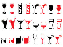 Abstract drinking glass collection Royalty Free Stock Photography