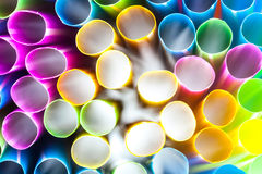 Abstract drinking straws Royalty Free Stock Images