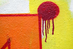 Abstract dripping graffiti Stock Image