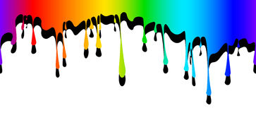Abstract drips of paint Royalty Free Stock Photography
