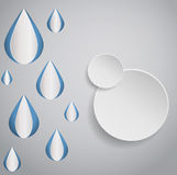 Abstract drop and circle design eps 10 Stock Photography