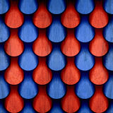 Abstract drops pattern - seamless pattern - red-blue color - woo. D surface Royalty Free Stock Photo