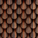 Abstract drops stacked for seamless background - Ebony wood Royalty Free Stock Image