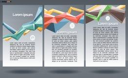 Abstract druka4 ontwerp in 3 delen, met rassenbarrières voor vliegers, banners of affiches, met geld, kaart en grafiekpictogramme Stock Afbeelding