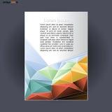 Abstract druka4 ontwerp met gekleurde driehoeken, voor vliegers, banners of affiches over zilveren achtergrond Royalty-vrije Stock Foto's