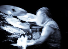 Abstract drummer concert. Motion blur background Stock Photography