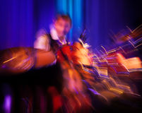 Abstract drummer concert. The Sound of Music. Abstract image of a drummer at concert. Intentional motion blur Royalty Free Stock Images