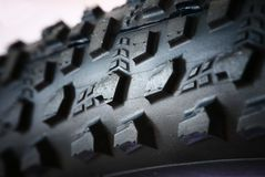 Extreme close-up of cross MTB tire Stock Images