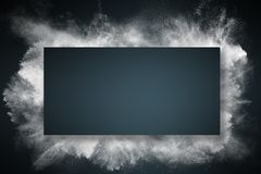 Abstract dust explosion frame background royalty free stock photos