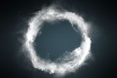 Abstract dust explosion frame background stock photo