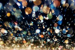 Abstract dynamic background. From defocus light tinsel Royalty Free Stock Photos