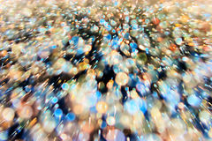 Abstract dynamic background. From defocus light tinsel Stock Photos