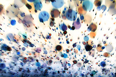 Abstract dynamic background. From defocus light tinsel Stock Images