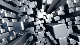 Abstract dynamic block graphic background Stock Image