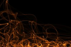 Abstract dynamic flame lines background. Interesting joyful vivid colorful backgrounds of dynamic shappes Stock Photography