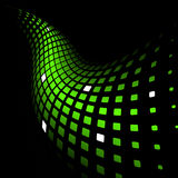 Abstract dynamic green background. 3d abstract dynamic green background on black Royalty Free Stock Photos