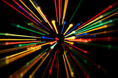 Abstract dynamic lights  on a black background Stock Photography