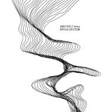 Abstract dynamic lines. Vector illustration of abstract dynamic lines with noise on white background. Design element for music cover, flayer, banner or web Stock Photography