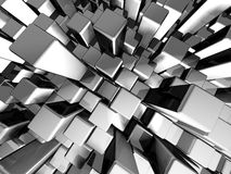 Abstract dynamic metal block background Stock Photography