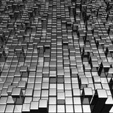Abstract dynamic metal block background Royalty Free Stock Photos