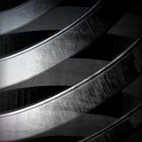 Abstract dynamic metal Stock Photo