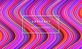 Abstract, Dynamic and Textured, modern colorful flow background for your design element and others stock illustration