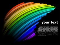 Abstract dynamisch regenboogontwerp stock foto
