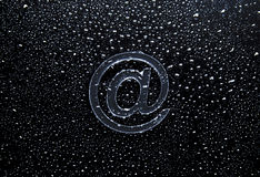 Abstract E-mail on liquid bubbles Stock Image