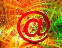 Abstract E-mail on liquid bubbles Royalty Free Stock Photo