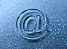 Abstract E-mail on liquid bubbles Royalty Free Stock Image