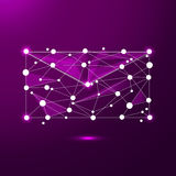 Abstract e-mail symbol in the form of a starry sky or space, consisting of points, lines, and shapes in the form of. Abstract image of e-mail symbol in the form Royalty Free Stock Images