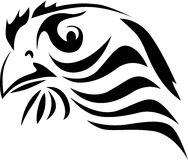 Abstract eagle portrait on whit Royalty Free Stock Images