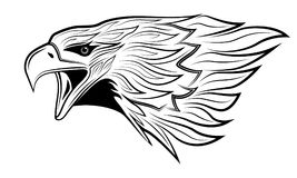 Abstract eagle, tattoo Royalty Free Stock Image