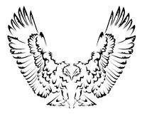 Abstract eagle tattoo Royalty Free Stock Photo