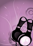 Abstract earphones 3 Royalty Free Stock Photography