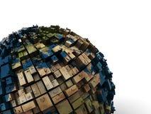Abstract earth globe royalty free illustration